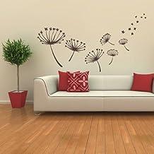 STICASA - Fiori cm 111x70 - colore Marrone opaco - Adesivi Murali - Adesivo murale floreale componibile a piacimento