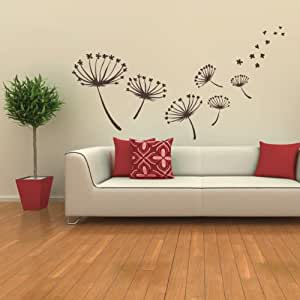 Sticasa fiori cm 111x70 colore marrone opaco adesivi for Stencil per cucina
