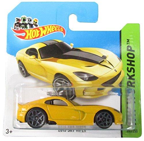 Hot Wheels HW Workshop 2014 203/250 2013 SRT Viper Yellow on Short Card by Hot Wheels