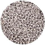 Ayaan: rotondo 70 centimetri di 300cm rotonde del ciottolo Tappeti di colore grigio formati grandi e piccoli lana della Nuova Zelanda (90cm / 2' 11'')
