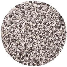 Ayaan: redonda :70cm a 300cm Ronda Pebble Alfombras en color gris Grande y Pequeño Tamaños Nueva Zelanda Lana (90cm / 2' 11'')