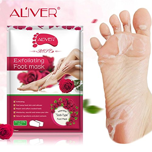 TAOtTAO Foot Mask Exfoliating Peeling Foot Mask Baby Soft Feet Remove Callus Hard Dead Skin Care Smoothing Mask (A) (Nacht Creme Japan)