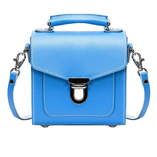 Zatchels - Sugarcube - Borsa in pelle fatta a mano (British Made) - Donna Blu navy