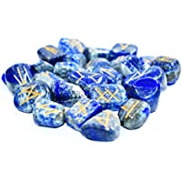 Tumble - Lapis Lazuli Set OF 25 Rune Stones Set + 3 Pointer pendant with Engraved Elder Futhark Alphabet Crystal... preisvergleich bei billige-tabletten.eu