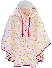 hibote bébé TPU Raincoat enfants Poncho Imperméable Hat Imperméable et étanche
