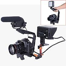 """Neewer–Resistente aluminio Vídeo acción Mango Estabilizador Grip Soporte con zapata fría y rosca de 1/4""""& 3/8para cámara réflex, videocámaras, monitor, luz LED y el micrófono"""