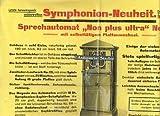 Werbeplakat der Firma Symphonion Aktiengesellschaft für die Neuheit Sprechautomat