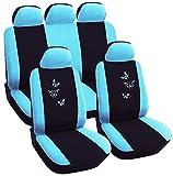 WOLTU Housse de siège voiture universelle Auto, housses pour siège,siège housse,couvre siège Noir Bleu (AS7244)