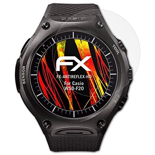 atFoliX Schutzfolie kompatibel mit Casio WSD-F20 Bildschirmschutzfolie, HD-Entspiegelung FX Folie (3X)