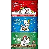 Pummeleinhorn - Mini Schokoladen Set Weihnachten, 3 Motive, 3 x ca. 40g