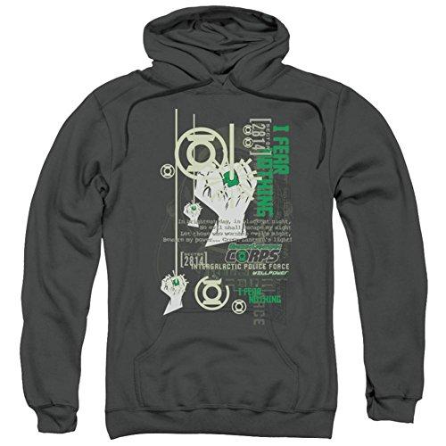 Green Lantern Erwachsene Sweatshirt Hoodie CORE Strength Lizensiert - Schwarz - X-Groß -