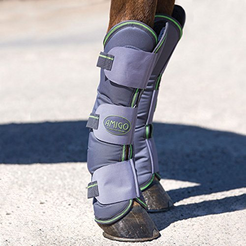 Horseware Amigo Travel Boots - Excal & Green / Transportgamaschen, Groesse:Pony (S)
