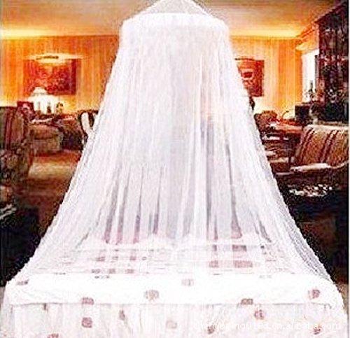 Wuudi Moskitonetz Princess Dome Elegante Netz Schlafzimmer Deckenleuchte, Rund, Baldachin Netz für Babybett Twin Full Bett - Baldachin-twin Bett