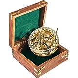 Große Sonnenuhr, mit Holzbox, PANAMA - Geschenkkompass