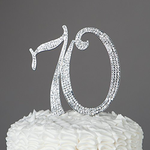 der Nummer 70 in silber Farbe für den 70zigsten Geburtstag oder als Dekoration für eines Jahrestag wie der silber Hochzeit ()