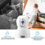 Dome Kamera - Atuten WiFi IP Kamera 1080P Wireless Überwachungskamera,Smart Home Kamera mit Nachtsicht,Auto-Rotation,2 Wege Audio,Bewegungsalarm,64G TF Card,Baby Monitor,Kompatible mit Alexa Echo Show - 5