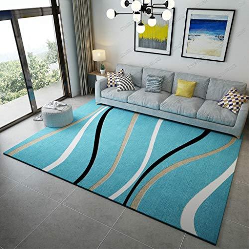Wohnzimmer Traditionellen Sofa (RUG LUYIASI- Einfache nordische Teppich Kurve Muster Kunst Design Bereich Teppich Wohnzimmer Sofa Bett Decke 6mm dick Non-Slip mat (Farbe : G, größe : 160 * 230cm))