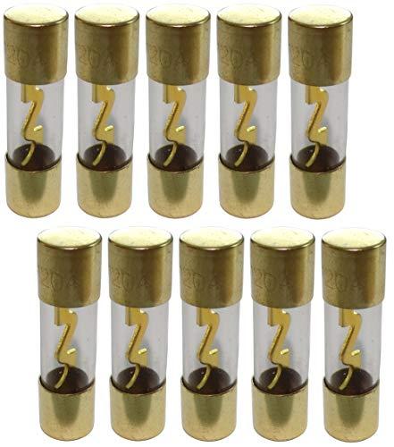 AERZETIX: Juego de 10 fusibles AGU 120A para amplificador subwoofer para auto sonorizacion C40692