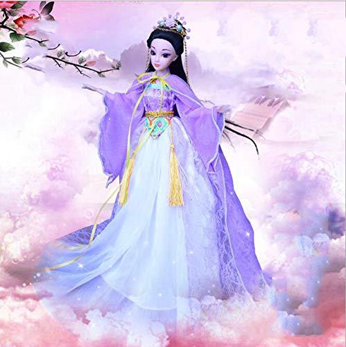 FaSoLa Mini-chinesischen Stil Puppe Puppenkleidung Set Mädchen verkleiden Sich Spielzeug Prinzessin Schlafzimmer Dekoration 30cm