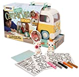 Fuzzikins Campervan, Creative playset with cute Cats to colour & play in a Campervan Playhouse. Washable felt tip pens, stickers & blanket included