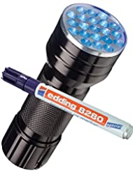 edding Spezialmarker edding 8280 securitas UV marker, 1,5 - 3 mm, farblos + eine UV LED Lampe