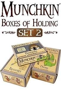 Munchkin - 332243 - Jeu De 500 Cartes - Boxes Of Holding - Set De 2