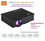 #6: UNIC UC46+ (Upgraded Version ) with USB/HDMI/VGA/WIFI Miracast DLNA Airplay 1200 lm LED Corded Portable Projector (Black)