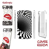 CASELABDESIGNS COVER CASE CRYSTAL WHITE BLACK PER HUAWEI ASCEND Y540 - CUSTODIA IN PLASTICA RIGIDA