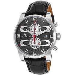Ben & Sons Voyager Herren-Armbanduhr 46mm Armband Edelstahl Gehäuse + Quarz Zifferblatt Silber 10014-022S