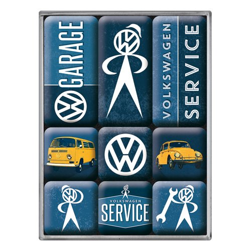 nostalgic-art-83081-lot-de-9-aimants-theme-service-volkswagen