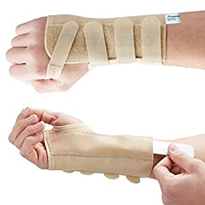 Actesso Elastic Tri-Weave Wrist Support Splint Brace - Reduces Pain from Carpal Tunnel , Fractures , Sprains or Strains. Designed and used by Medical Professionals