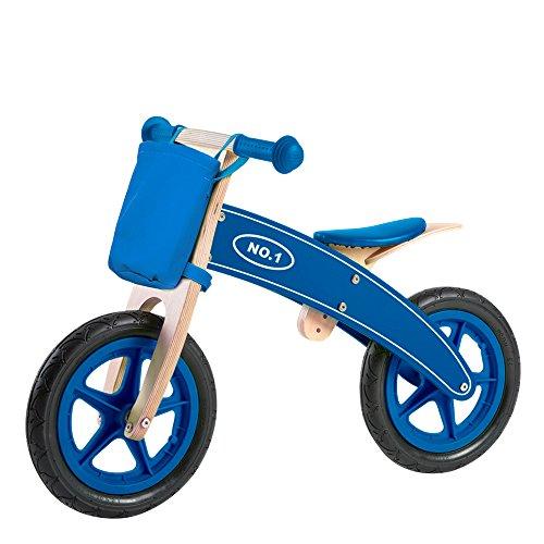 ColorBaby - Bicicleta sin pedales Madera nº1, Color Azul Marino (Color Baby 85102)