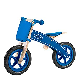WOOMAX - Bicicleta sin pedales madera con cesta (ColorBaby 85102)