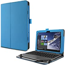 ASUS T101HA Funda Case, Infiland Folio PU Cuero Cascara Delgada con Soporte para ASUS T101HA 10 inch Tablet, Azul Claro