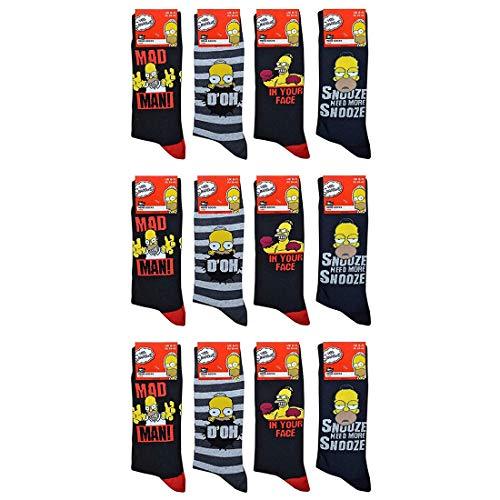 Mens Character Socks 12 pares calcetines