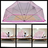 """COMFORT MOSQUITO NET FOLDABLE, Pink Double Size Bed- 5 """" X 6.5 """""""