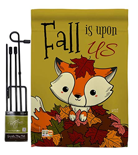 191026-BO-02 Day of The Dead Fall Halloween Impressions Decorative Vertical Garden Flag Set Metal Wall