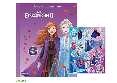 Carlsen Die Eiskönigin 2 : Das Buch zum Film (Großformatiges Bilderbuch mit Cover-Veredelung mit Softtouch und Spotlack) + gratis Frozen Sticker