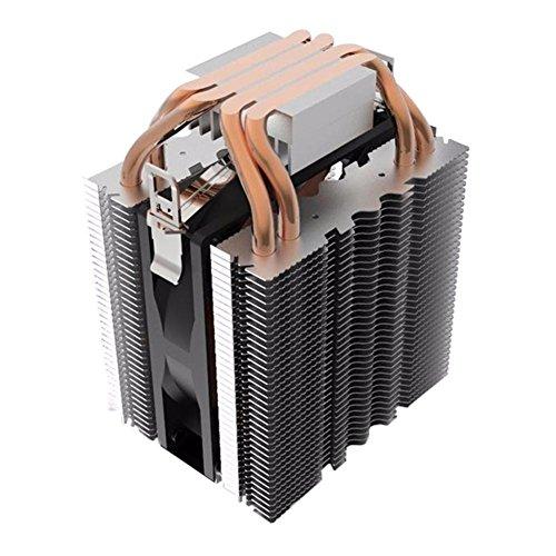 Prosperveil 4pcs Heatpipe Radiator Blau LED Hydraulische Lager CPU Kühler Lüfter Kühlkörper -