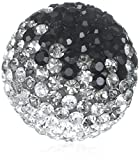 Engelsrufer Damen-Anhänger Klangkugel Crystal Metalllegierung Glas weiß schwarz - ERS-02-ZI-S