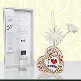 Diffusore di profumo in ceramica I love mamma a forma di cuore idea regalo festa della mamma compleanno altri decori su mpcreative