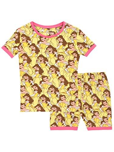 Disney Mädchen Die Schöne und Das Biest Schlafanzug Slim Fit Gelb 110