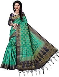 Shreenathji Ethnic Women's Banarasi Cotton Silk Saree With Blouse Piece