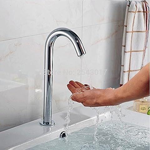 Tourmeler Contemporary Automatic Sensor Faucet Hotel Hospital Hands Free Sense Faucets Single Cold Deck Mounted Torneira Zr1017, Chrome, Dc