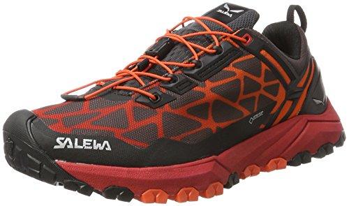 Salewa Herren MS Multi Track Gore-Tex Trekking-& Wanderhalbschuhe, Mehrfarbig (Black/Bergot), 42 EU (Track-schuh)