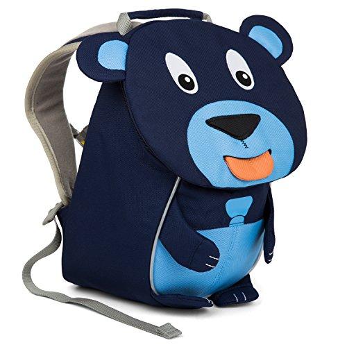 Affenzahn Kinderrucksack mit Brustgurt für 1-3 jährige Jungen und Mädchen im Kindergarten oder Kita der kleine Freund Bobo Bär - Blau