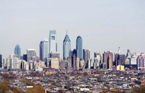 Panoramic Images - Buildings in a city Comcast Center Center City Philadelphia Philadelphia County Pennsylvania USA Photo Print (60,96 x 40,64 cm)