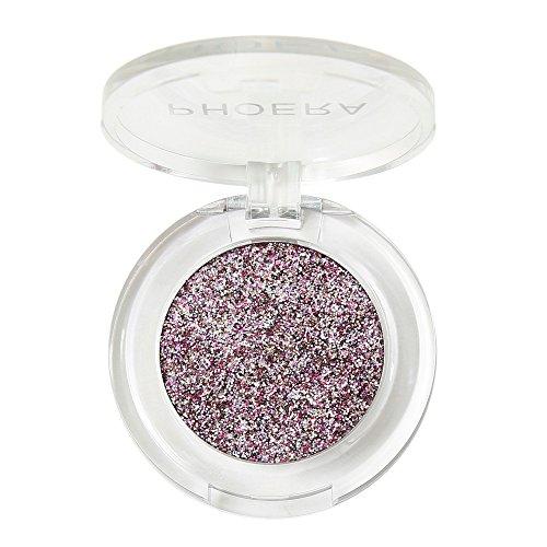 Mineral Eye Color Kit (Zilosconcy Frauen PHOERA Glitter Powder Shimmering Colors Lidschatten Metallic Eye Cosmetic Eyeshadow Pearl Beige mit sanftem Schimmer hellem perfekten Eyelook jeden Tag)