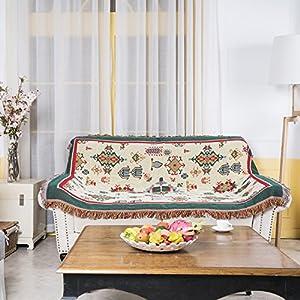 130x180cm Tejida Manta Suave grande de Sofá Cama para adultos, niños, mascotas y decoración en 100% algodón con antiestático y antipilling, Mapa del mundo
