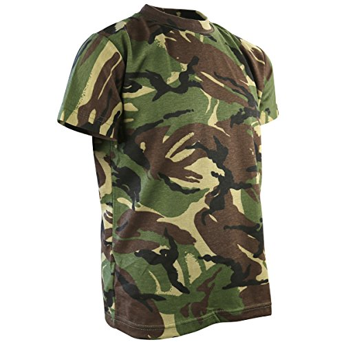 Kombat UK Kinder Camo T-Shirt, Dpm Camo, 5-6 (Flight Gun Herren Suit Top)